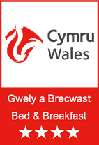 Bed & Breakfast in Wales Logo - Four star
